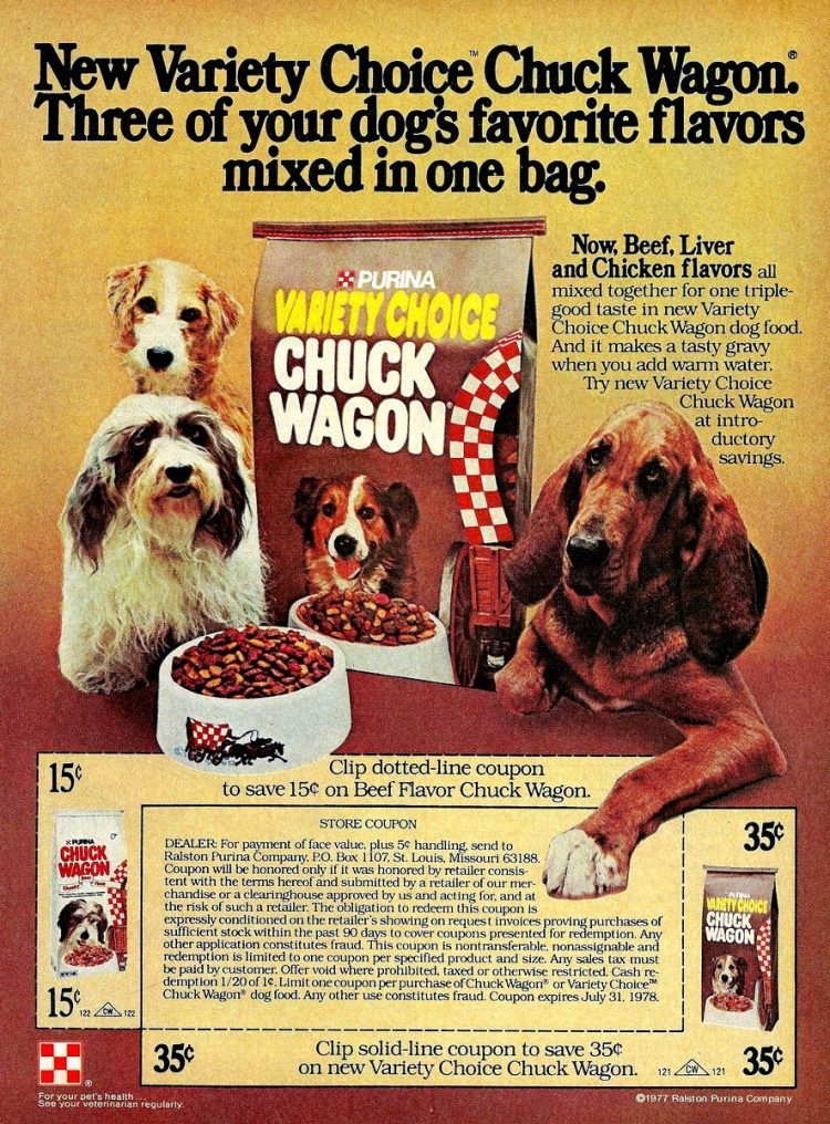 1977 Chuck Wagon dog food