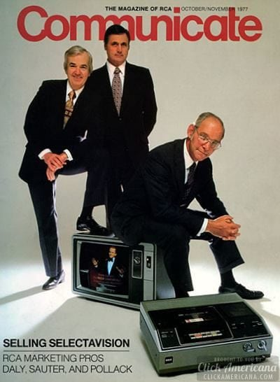 1977 VHS VCR introduced