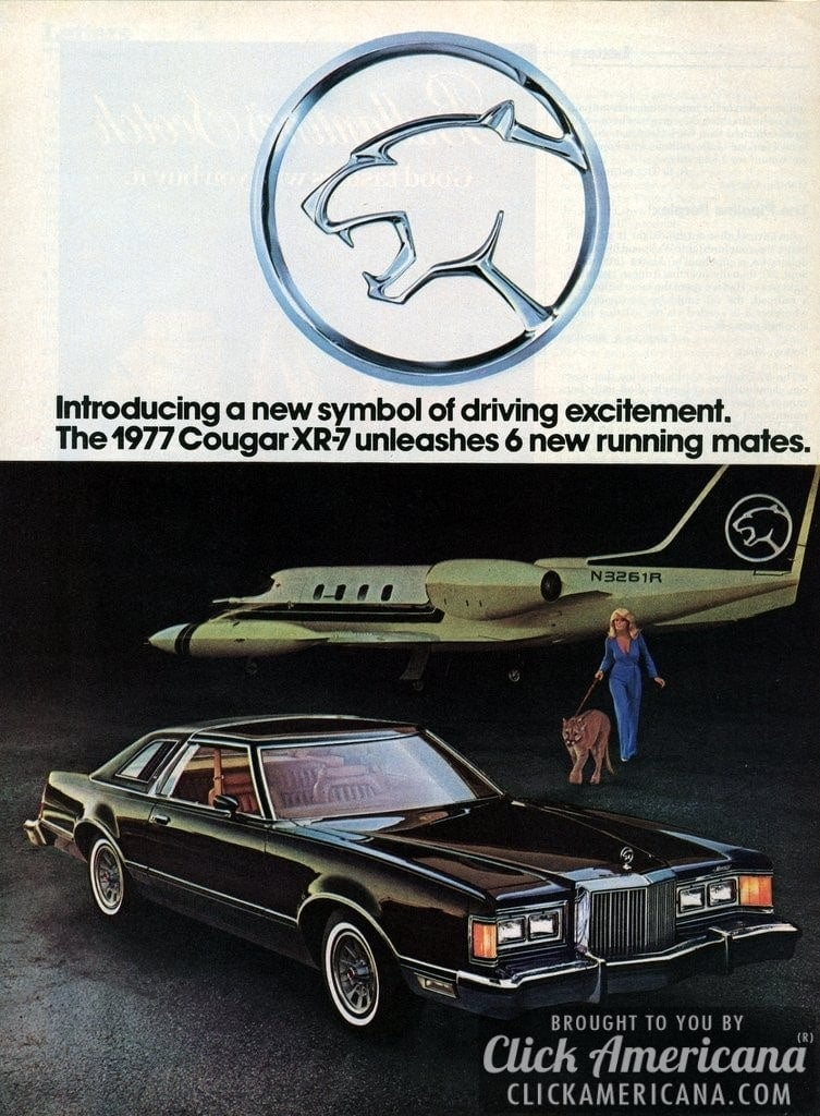 ford introduces the mercury cougar xr-7  1976