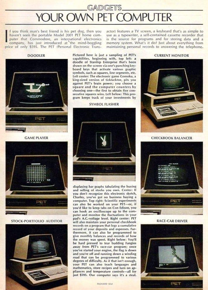 1978 Commodore PET Computer ad