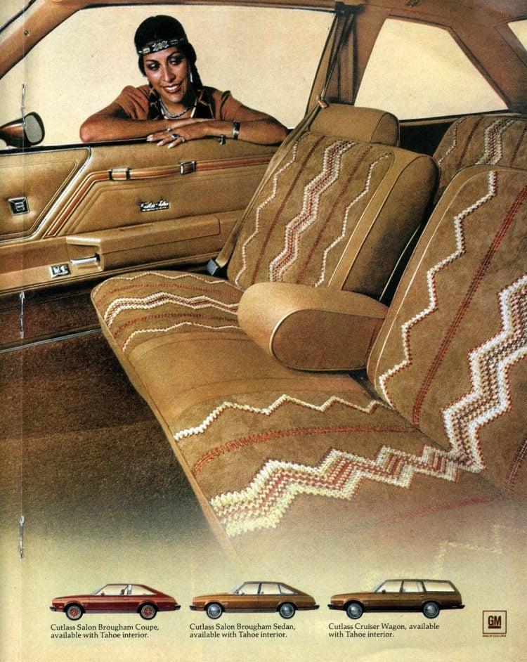 1978 Oldsmobile Cutlass designer interiors - American Indian inspired (1)