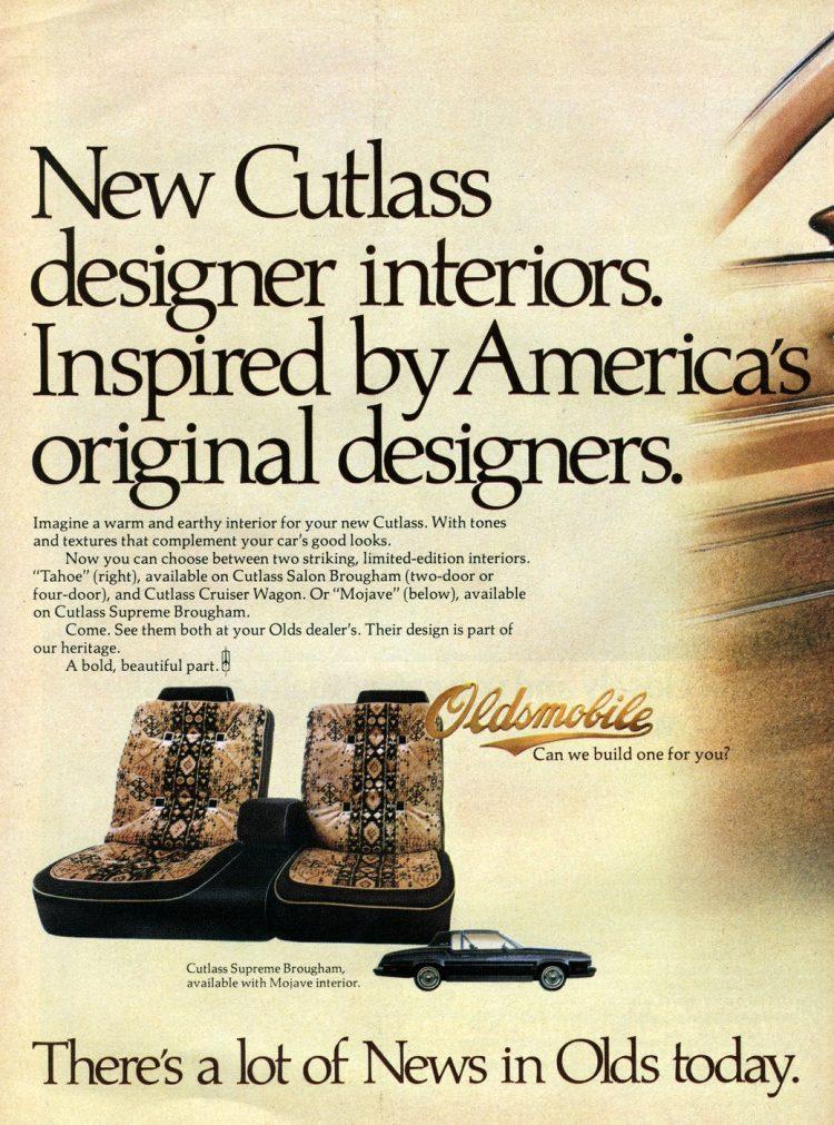 1978 Oldsmobile Cutlass designer interiors - American Indian inspired (2)