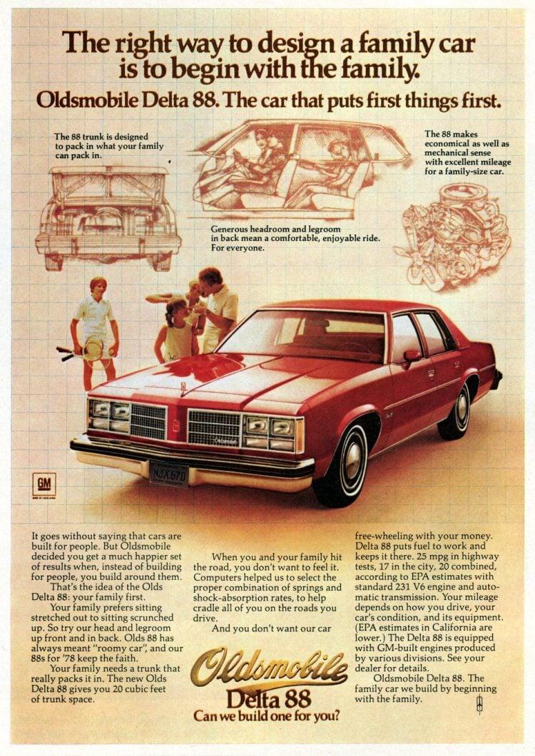 1978 Oldsmobile Delta 88 - classic Oldsmobile luxury sedans