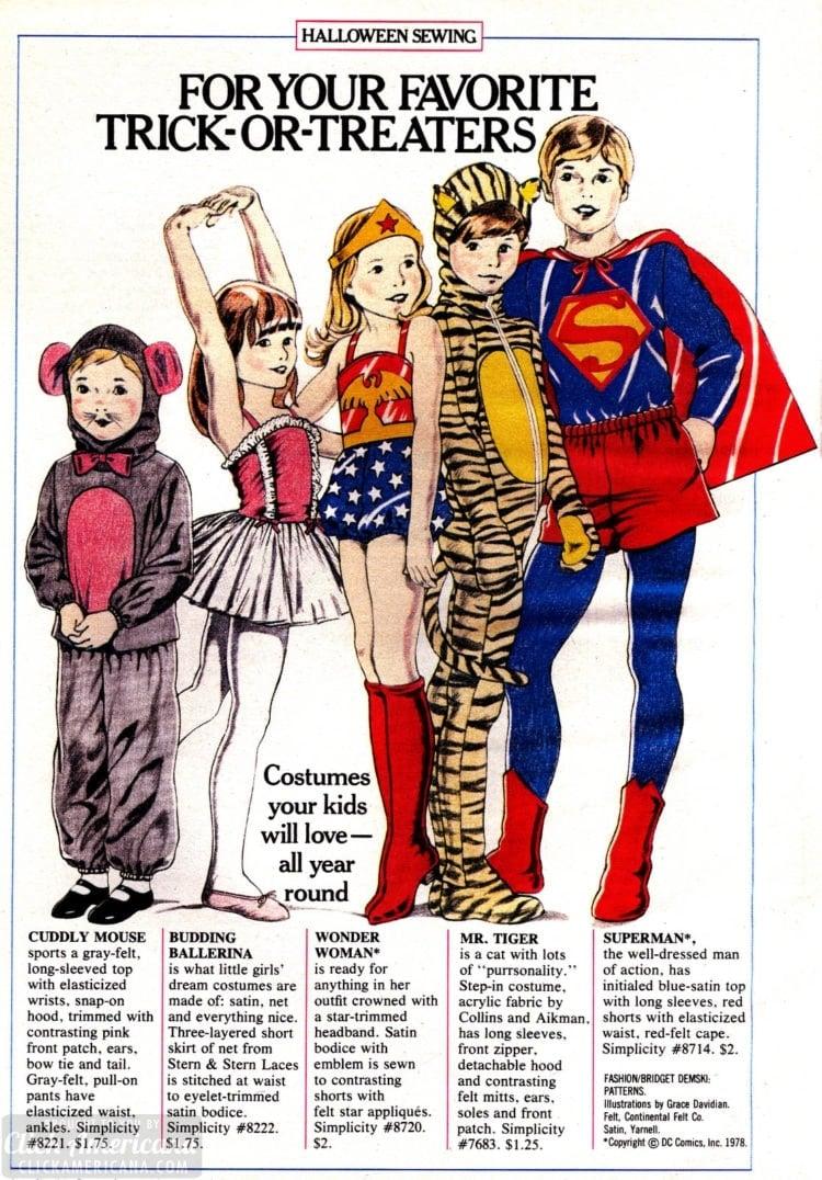 1979 vintage Halloween costume patterns