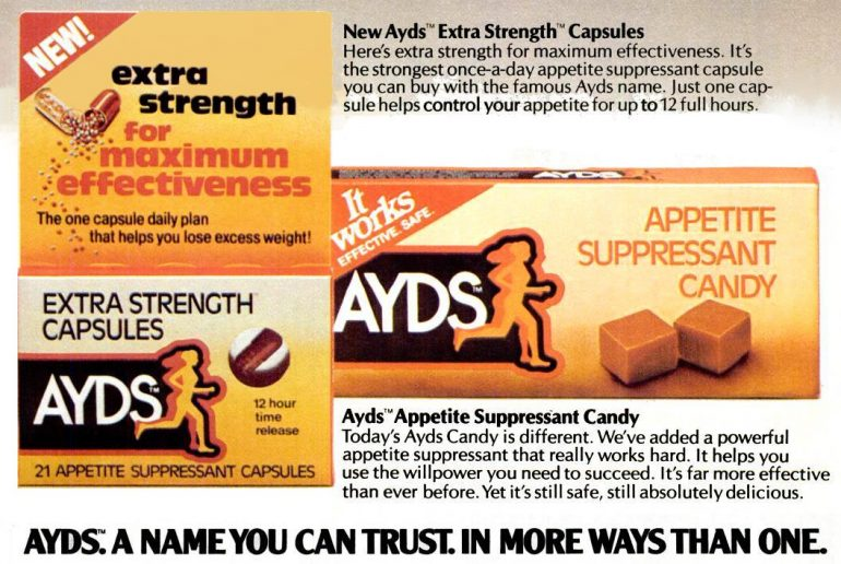 1980 Ayds diet candy