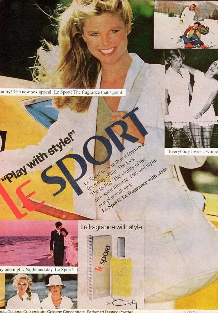 1980 Le Sport perfume from Coty - Christie Brinkley