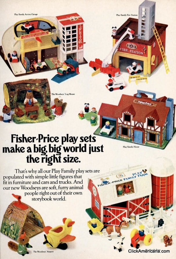 Fisher-Price play sets make a big, big world just the right size (1980