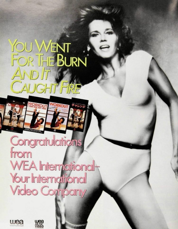 1980s Jane Fonda workout videocassettes
