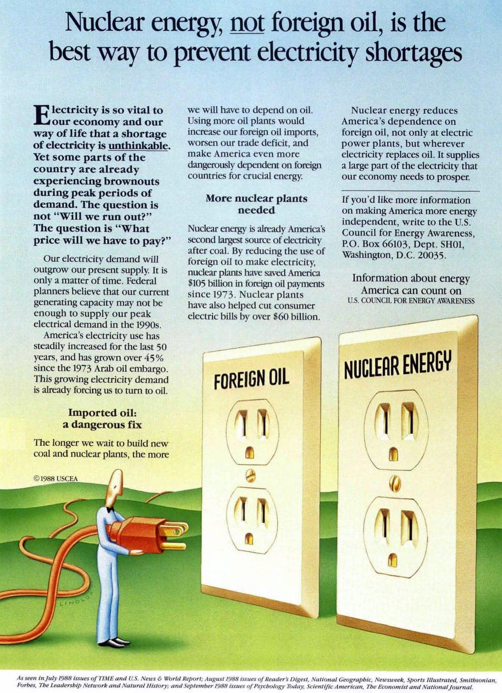 1980s Pro-nuclear Council for Energy Awareness campaign (1)