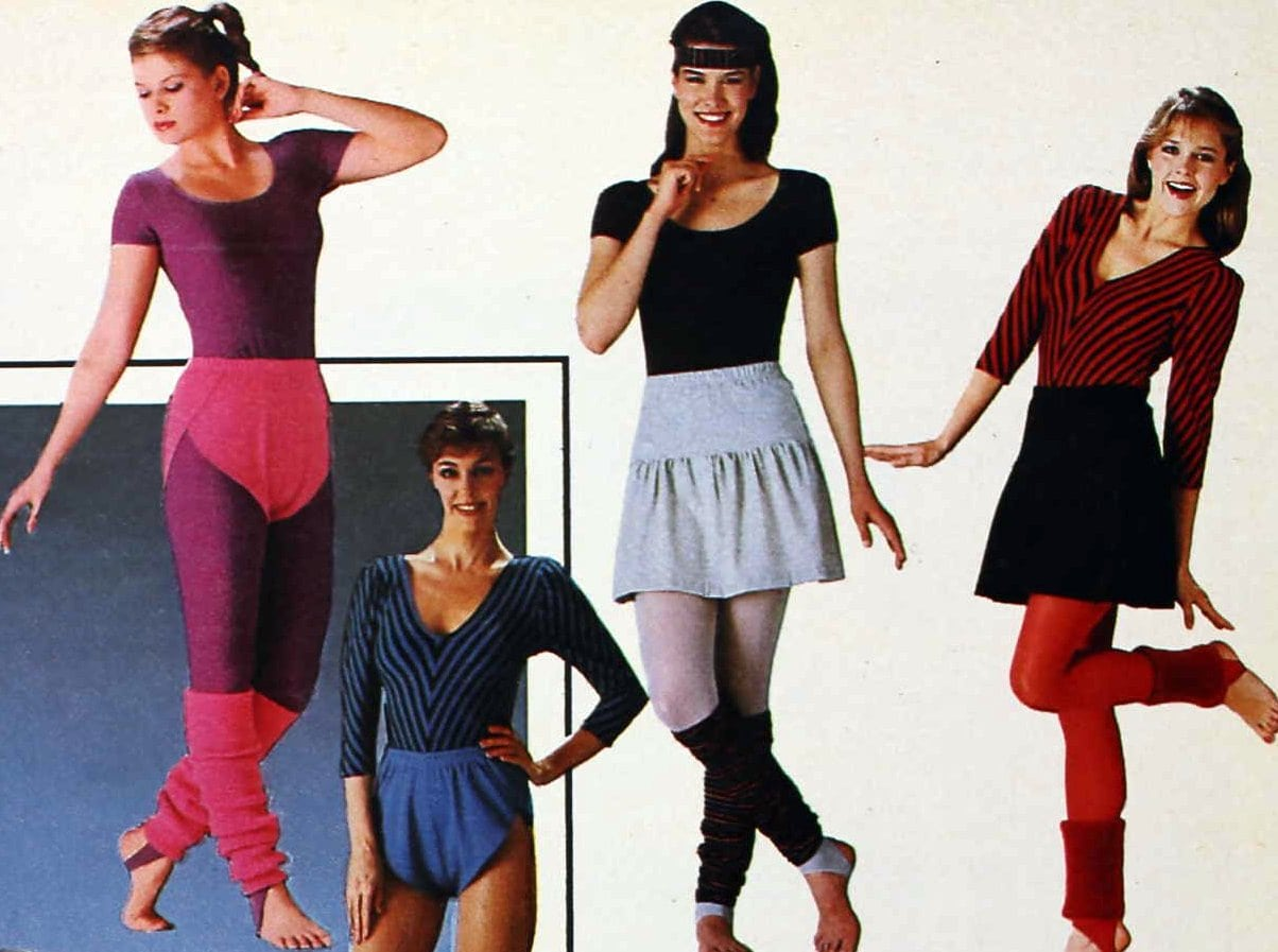 1980s fashionable fitness gear