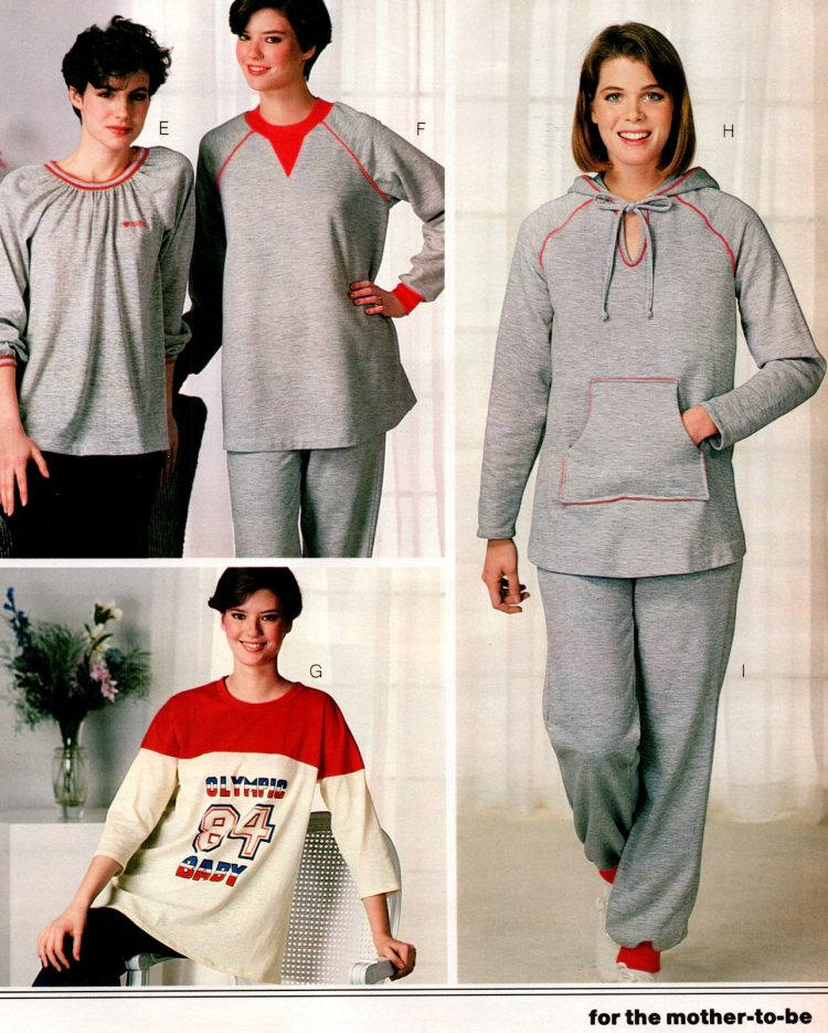 1980s maternity sleepwear for the mom-to-be