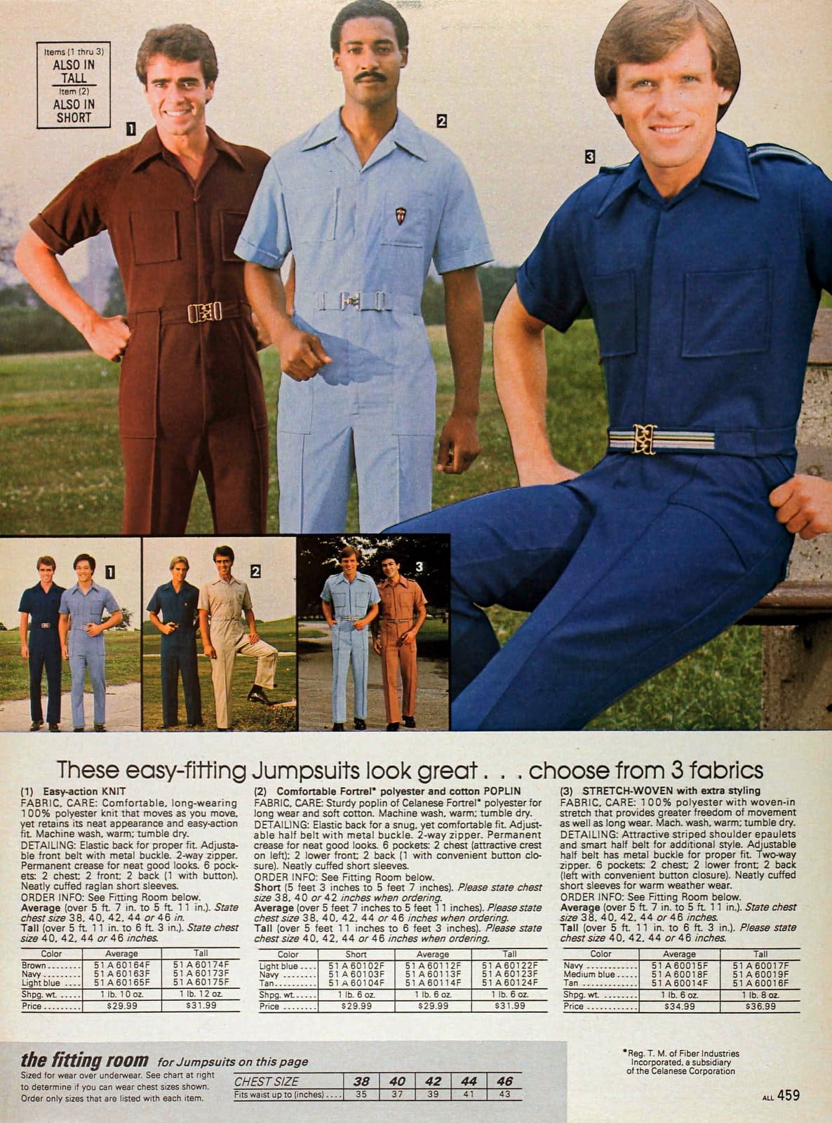 1980s menswear clothing from Sears 1983 Jumpsuits for guys