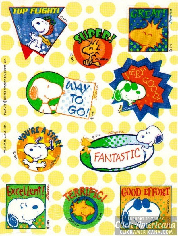 1980s-peanuts-snoopy-sticker-sheet-hallmark