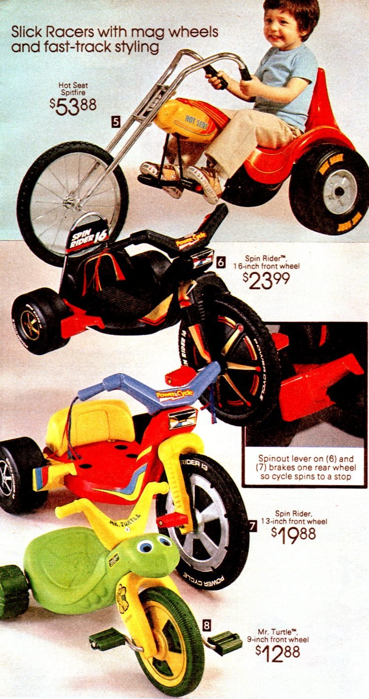 1981 Big Wheels and other ride-on toys