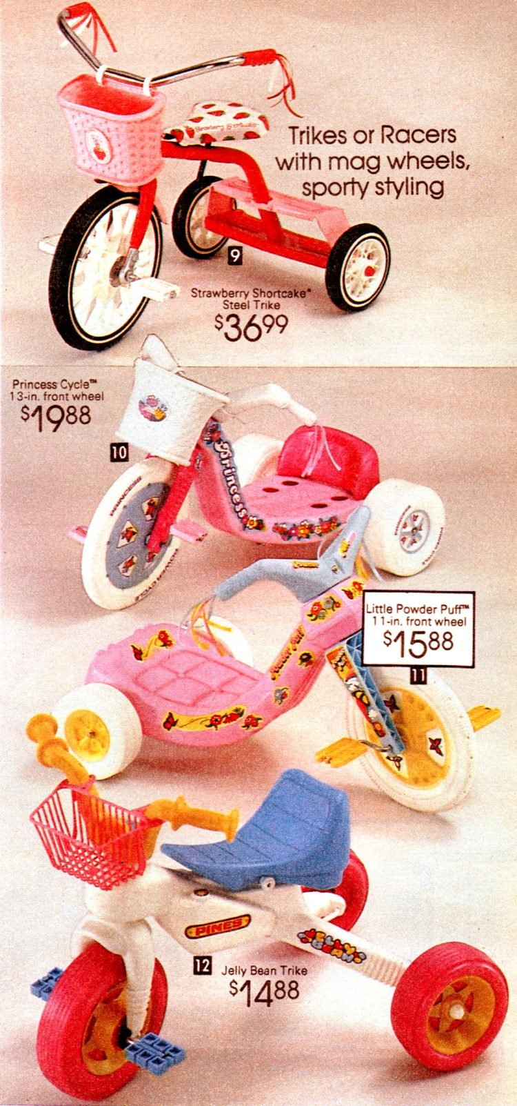 1981 Big Wheels and other ride-on toys - Girl versions