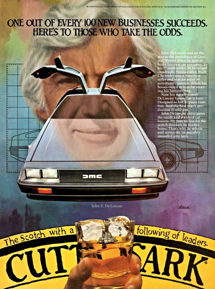 1981 DeLorean ad - Cutty Sark leaders