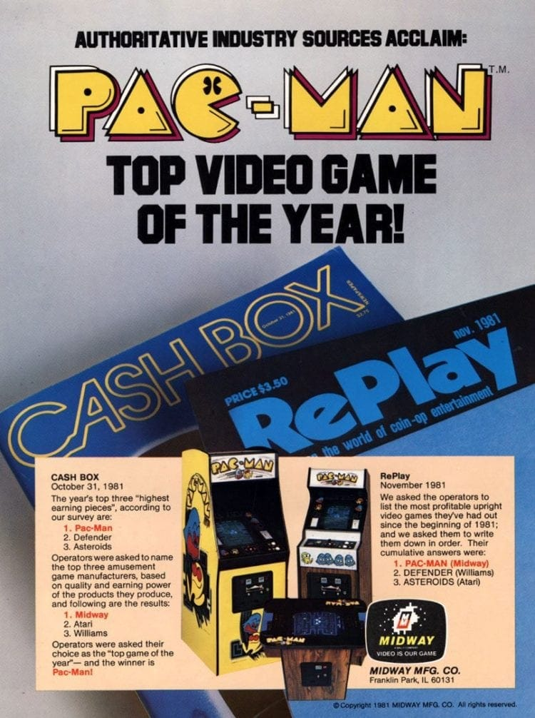 1981 Pac Man arcade games
