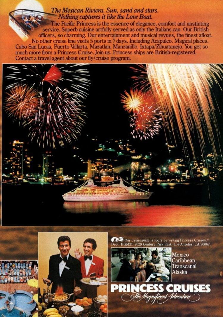 1981 Princess Cruises Mexico vintage ad