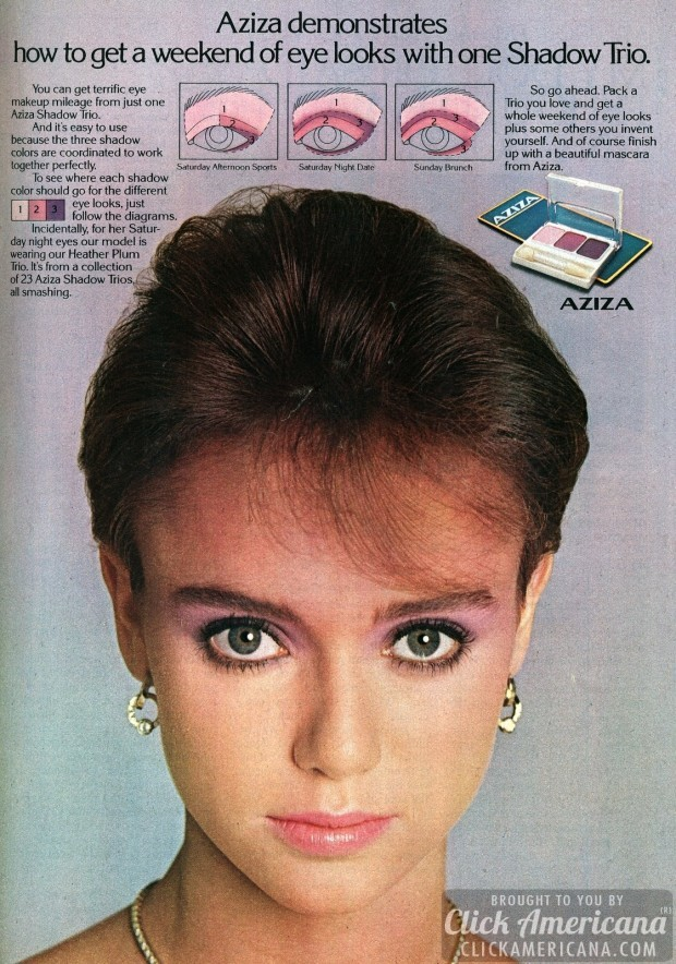 1982-Aziza eye Shadow Trio makeup