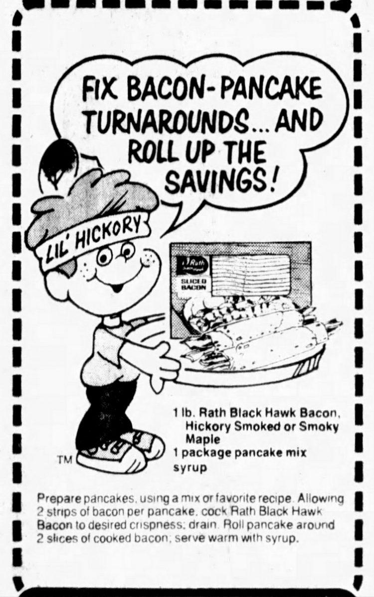 1982 - Bacon pancake turnarounds