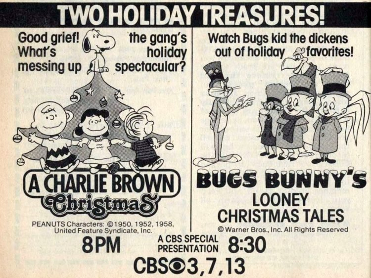 1982 Christmas TV specials - Charlie Brown and Bugs Bunny