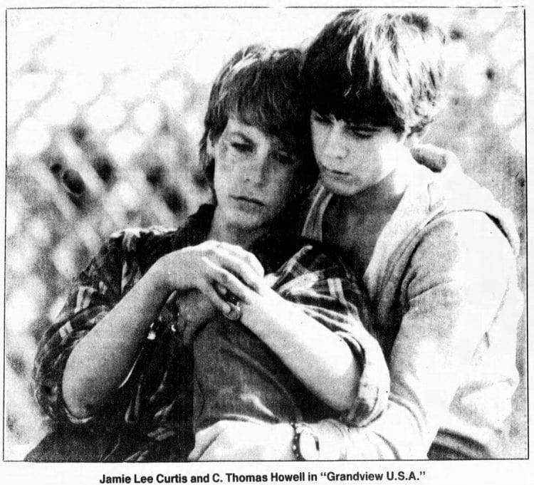 1982 - Jamie Lee Curtis and C Thomas Howell in Grandview USA