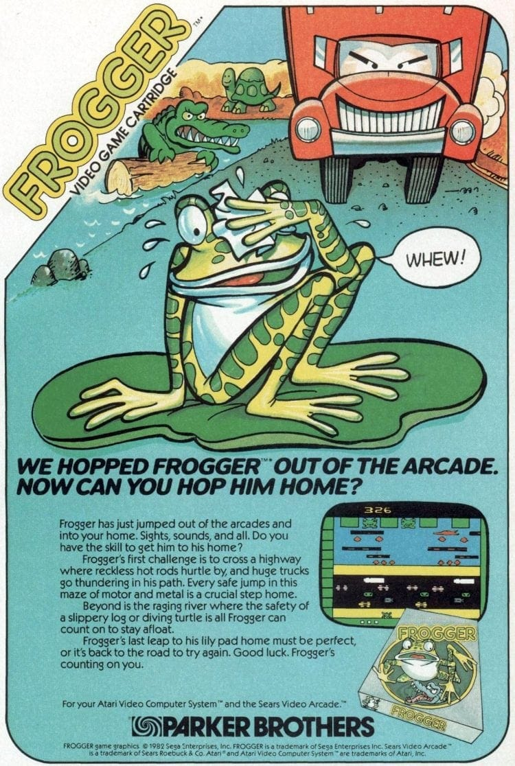 1982 Parker Brothers Frogger video game