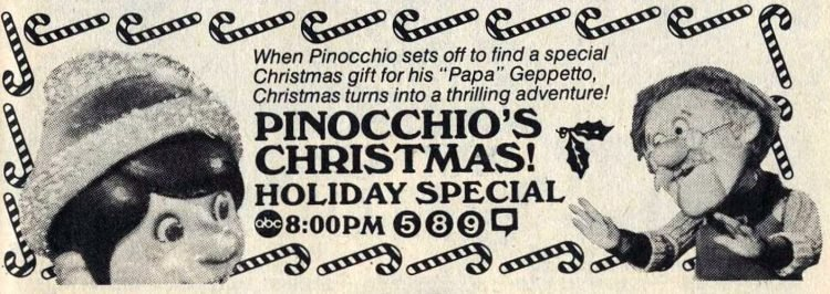 1982 Pinocchio's Christmas holiday TV special