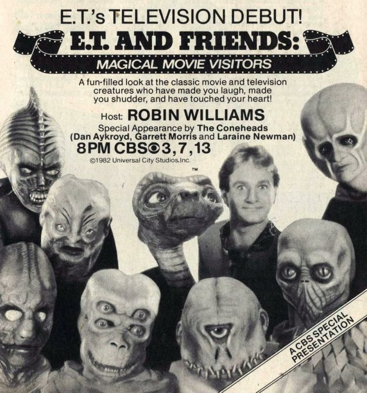 1982 Robin Williams on ET and friends - Aliens and monsters