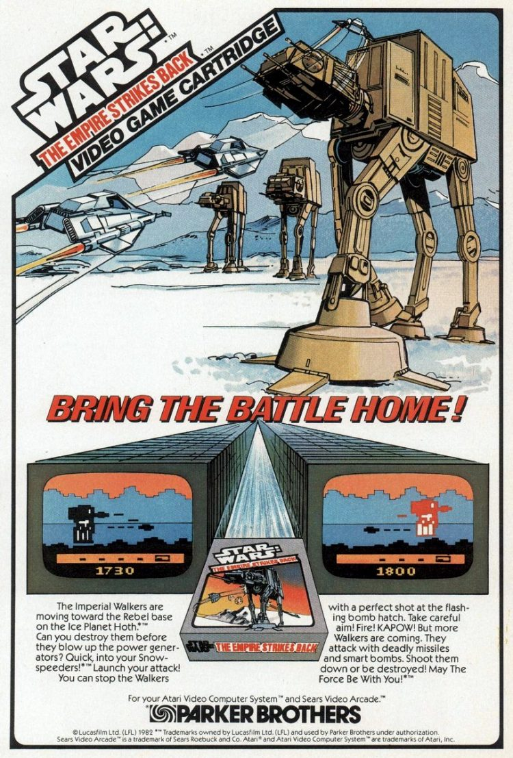 1982 Star Wars Empire Strikes Back video game cartridge