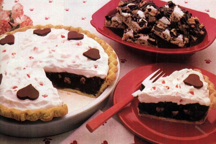 1982 Sweetheart fudge pie Rocky road bar recipes
