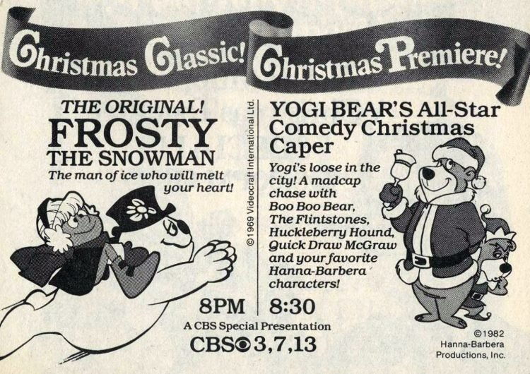 1982 TV special - Frosty and Yogi Bear - Christmas classic