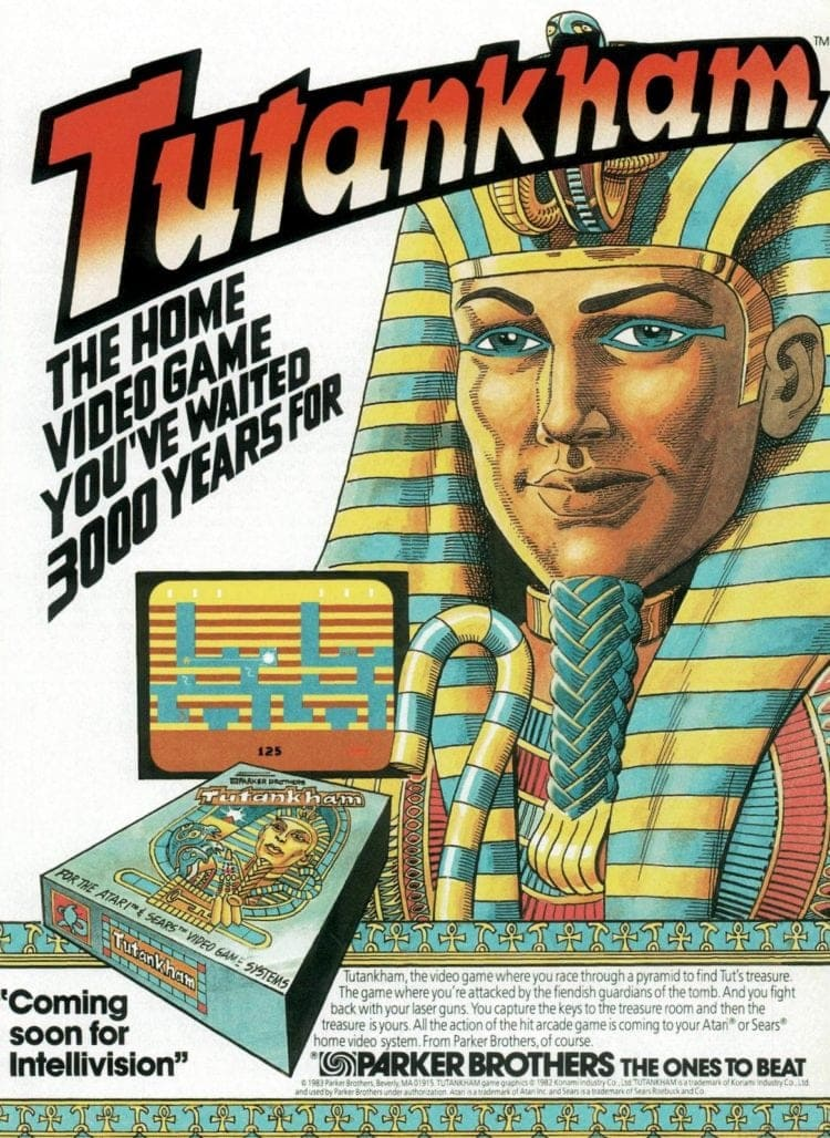 1983 Parker Brothers King Tut video game