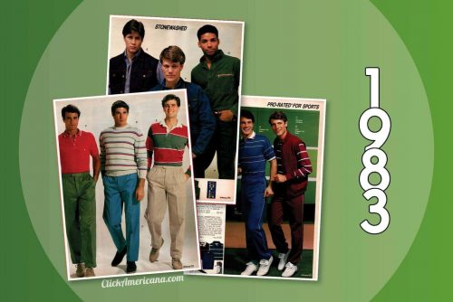 Casual '80s menswear from the 1983 JC Penney catalog