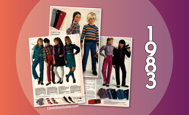 f54f014d3 Fashionable  80s clothes for girls in the 1983 JC Penney catalog ...