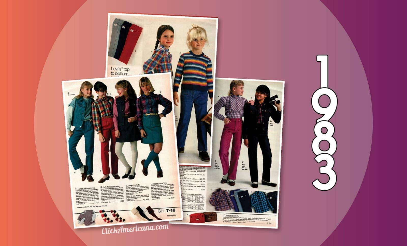 287bcb597 Fashionable '80s clothes for girls in the 1983 JC Penney catalog - Click  Americana