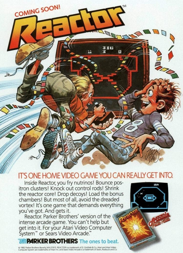 1983 game parker brothers reactor