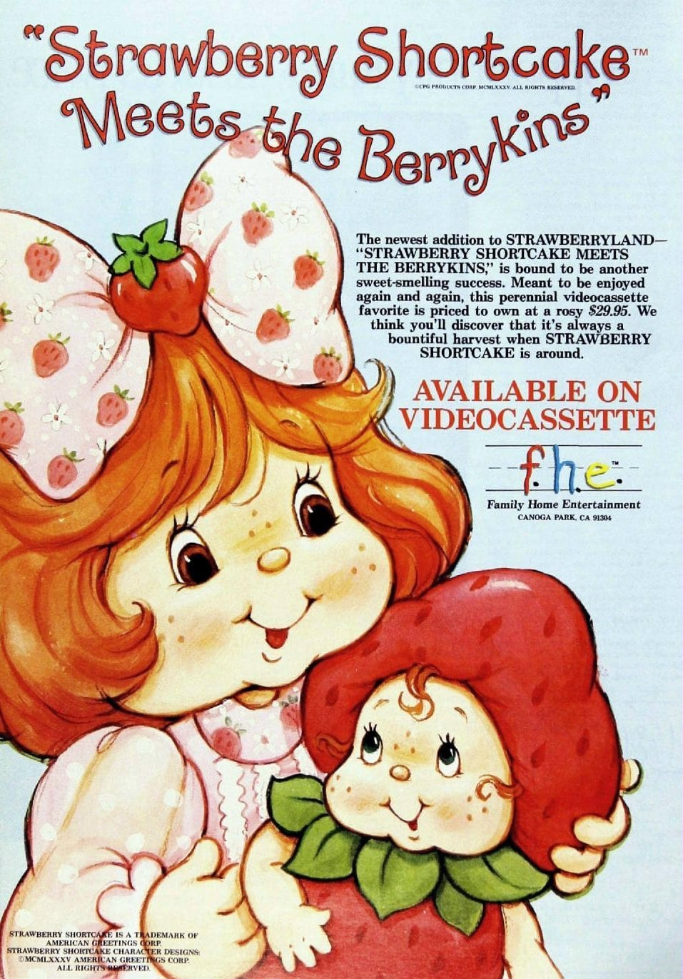 1985 Strawberry Shortcake Meets the Berrykins VHS tape