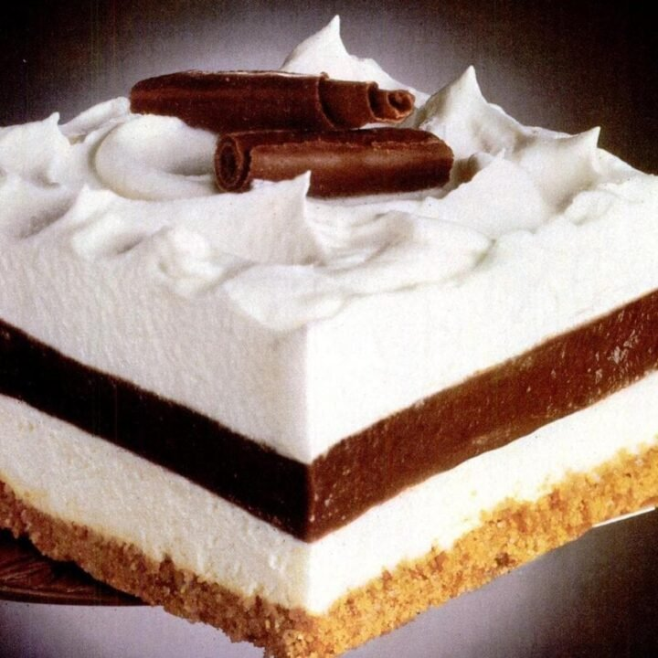 Striped Delight vintage dessert recipe (1985)