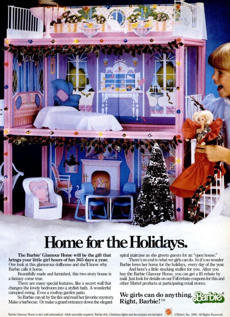 1986 Barbie Glamour Home toys