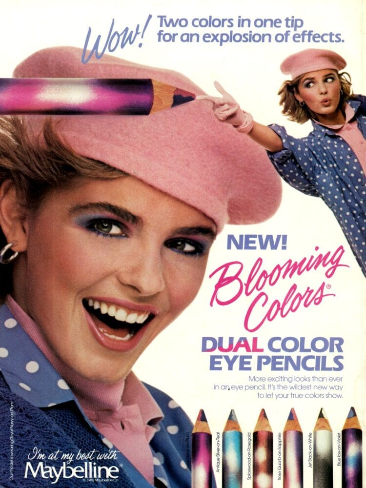 1986 Maybelline Blooming Colors makeup