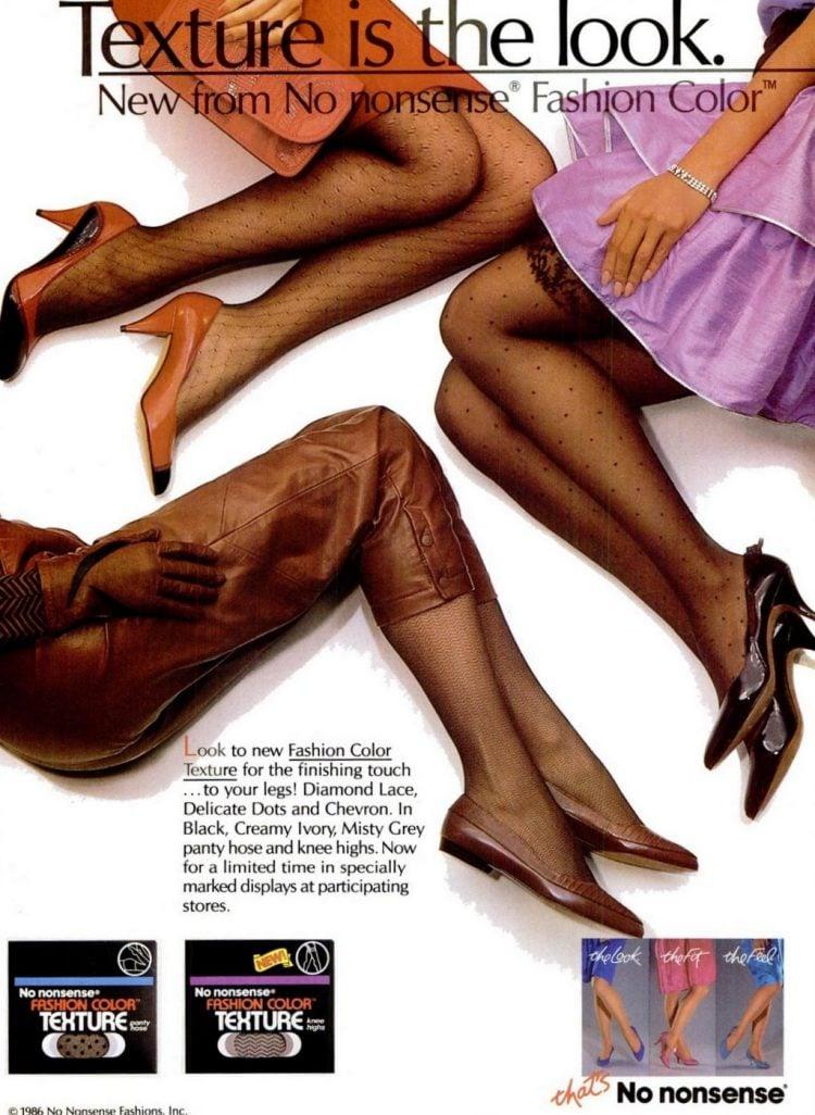 1986 Textured nylons