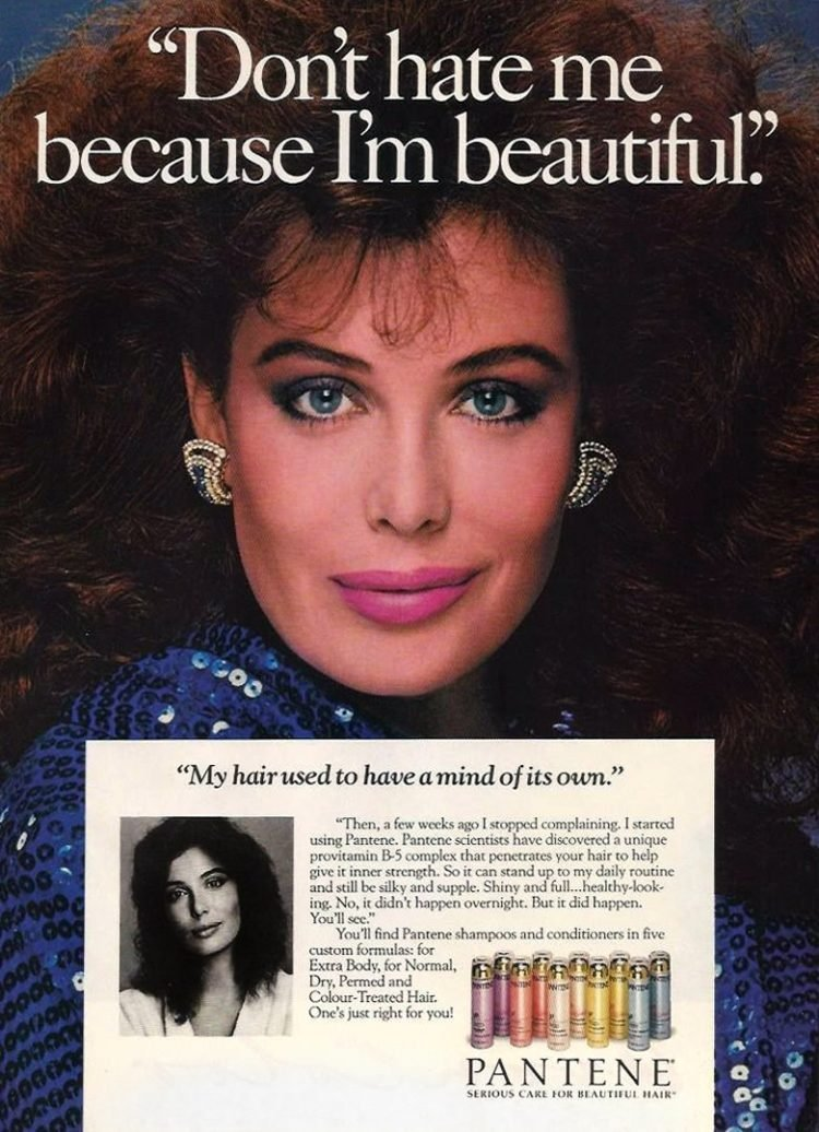 1987 Pantene shampoo hair Kelly LeBrock