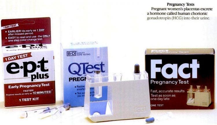 1987 Vintage pregnancy test kits