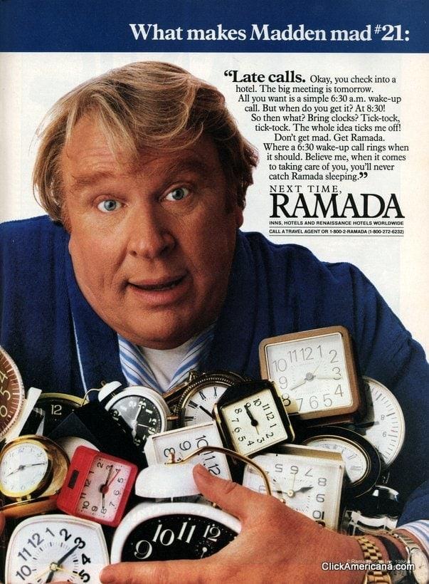 John Madden for Ramada Hotels (1987)