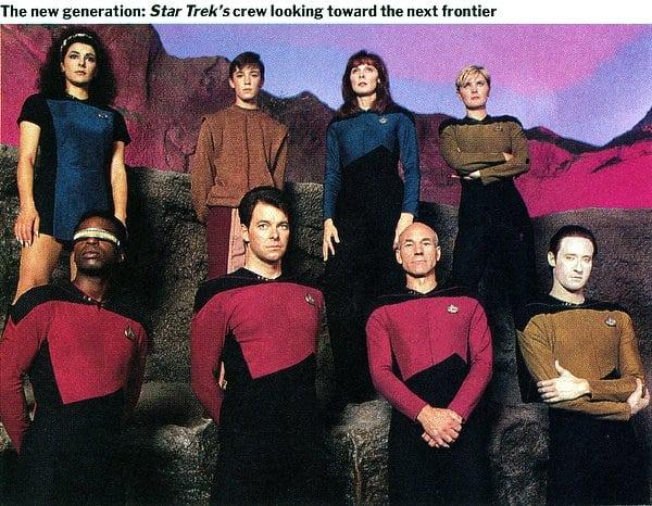 Star Trek: The Next Generation launching soon (1987)