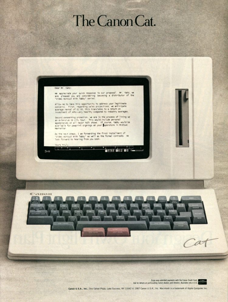 1987's Canon Cat word processor was like an early laptop (3)