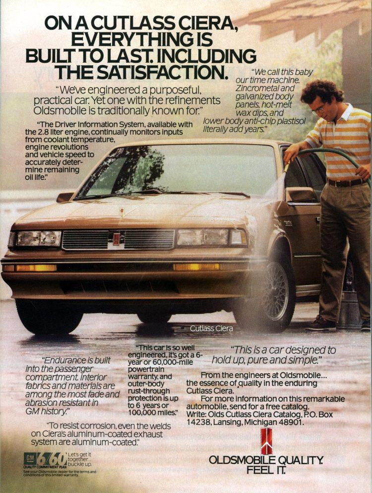 1988 Cutlass Ciera - Classic Oldsmobile cars