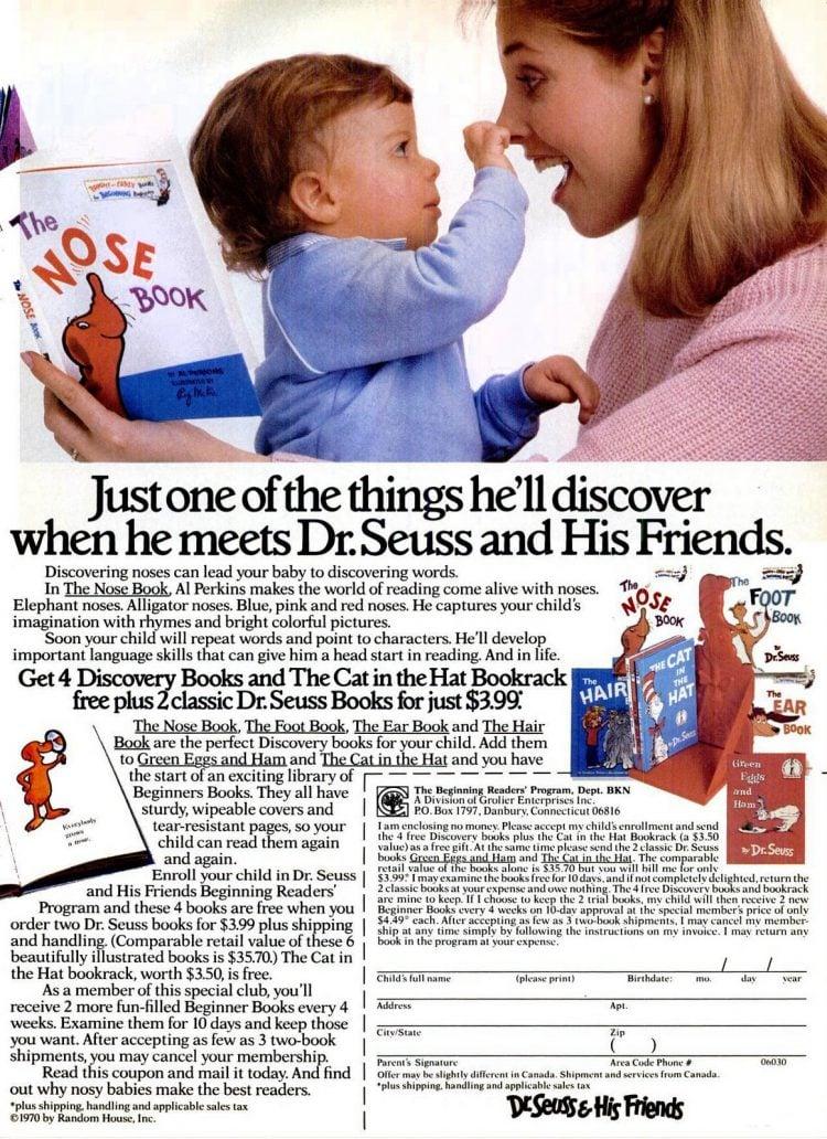 1988 Dr Seuss book club for kids