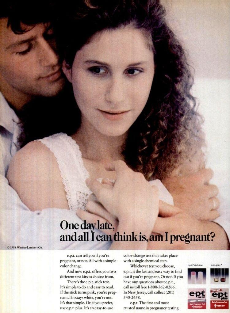 1988 EPT plus pregnancy stick tests